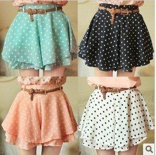 [Free shipping] 2012 new,fashion chiffon women's shorts/pantskirt,4 colors Wholesale/Retail (Match chatelaine)