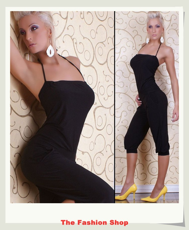 Free shipping!2012 New Fashion Ladies' Jumpsuits,Sexy Women Rompers,Clubwear,One size,YBF087,Black