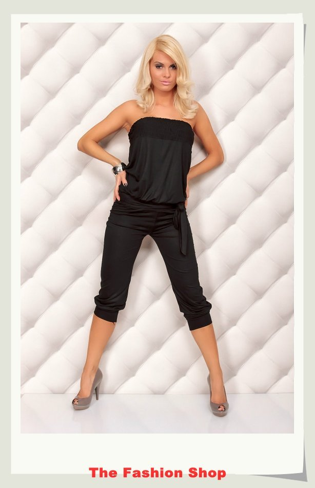 Free shipping!2012 New Fashion Ladies' Jumpsuits,Sexy Women Rompers,One size,NA4005b,Black
