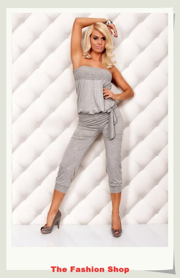 Free shipping!2012 New Fashion Ladies' Jumpsuits,Sexy Women Rompers,One size,NA4005g,Gray