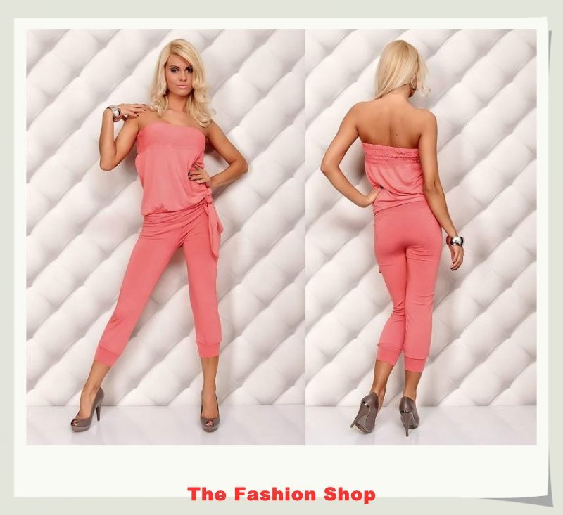 Free shipping!2012 New Fashion Ladies' Jumpsuits,Sexy Women Rompers,One size,NA4005p,Pink
