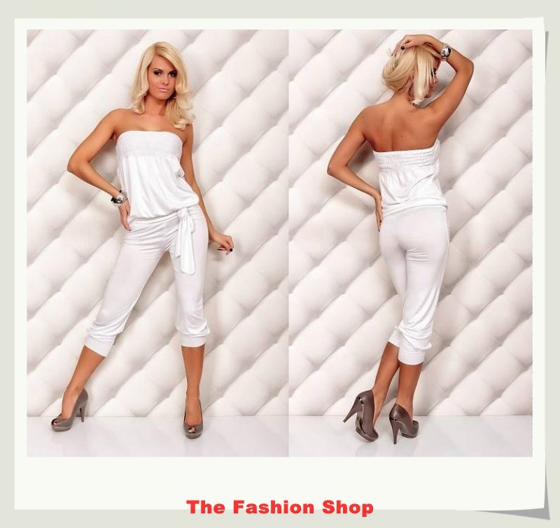 Free shipping!2012 New Fashion Ladies' Jumpsuits,Sexy Women Rompers,One size,NA4005w,White