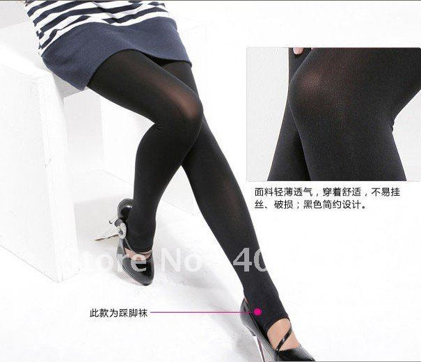 free shipping,2012 new fashion Women's Opaque Tights Pantyhose 2 Colors Stockings Leggings Black/Purple