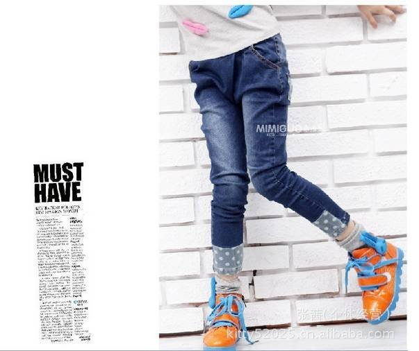 Free shipping 2012 new Korean version children girls/kids jeans pants