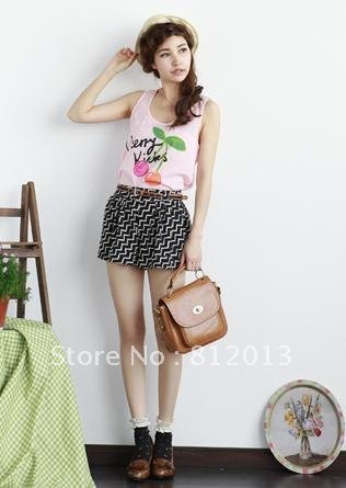 free shipping  2012 new product new women's summer of tall waist stripe snow spins short hot pants