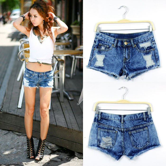 FREE SHIPPING 2012 NEW SEXY WOMEN JEANS SHORTS HOLE DENIM SHORTS