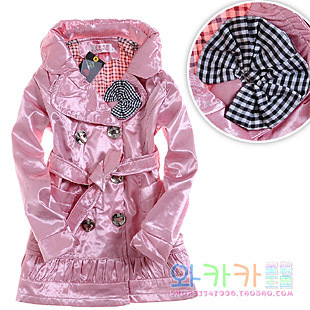 free shipping  2012 princess double layer long-sleeve children's clothing coat,girl dust coat