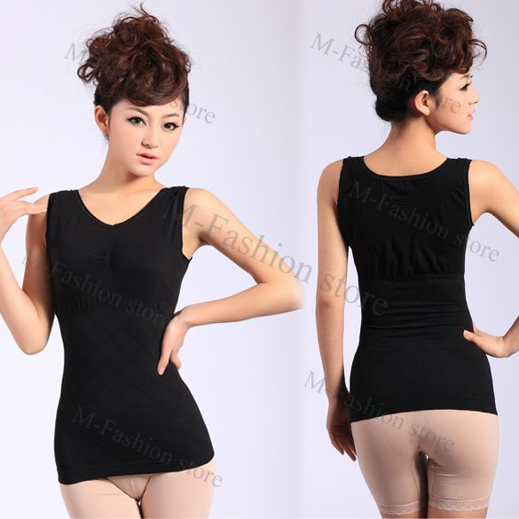 Free shipping 2012 Slimming Control Cotton Curve Model Body Shaper firm Tummy Control Vest Shape Wear Waspie