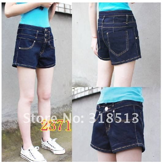 Free shipping 2012 spring  summer female of tall waist Women's shorts, Leisure pants  big yards