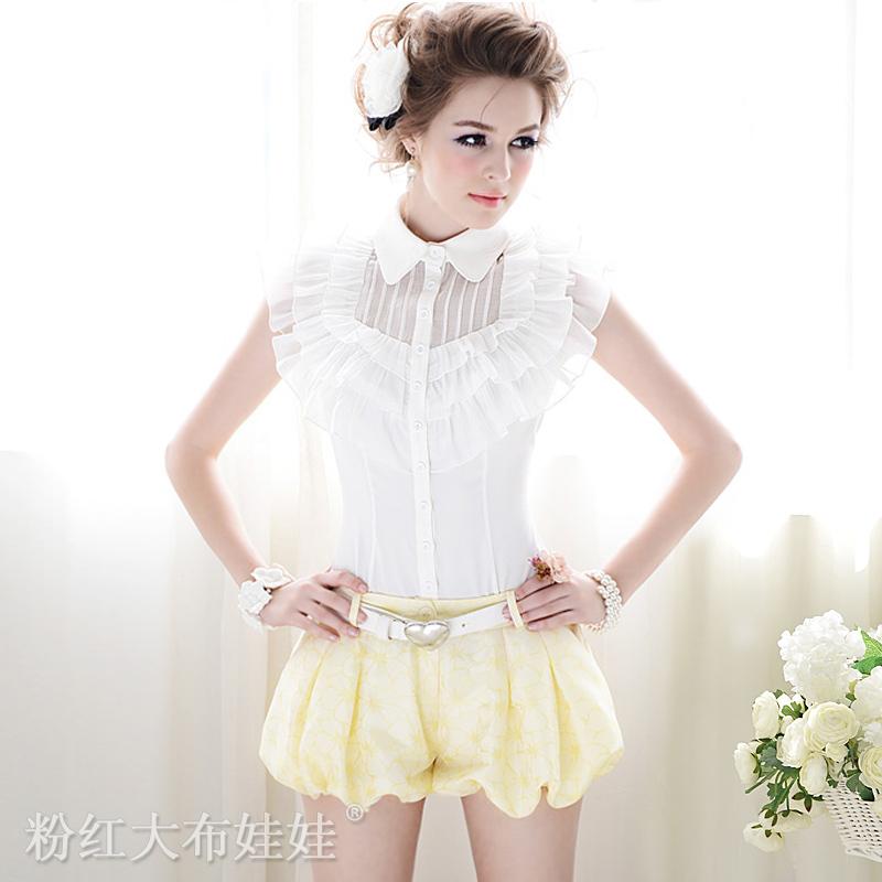 free shipping/2012 summer /jacquard /low-waist/ lantern shorts/women's shorts