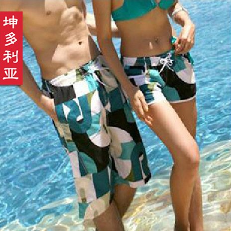 Free shipping! 2012 summer new arrival beach pants lovers casual plaid shorts women's shorts summer trousers