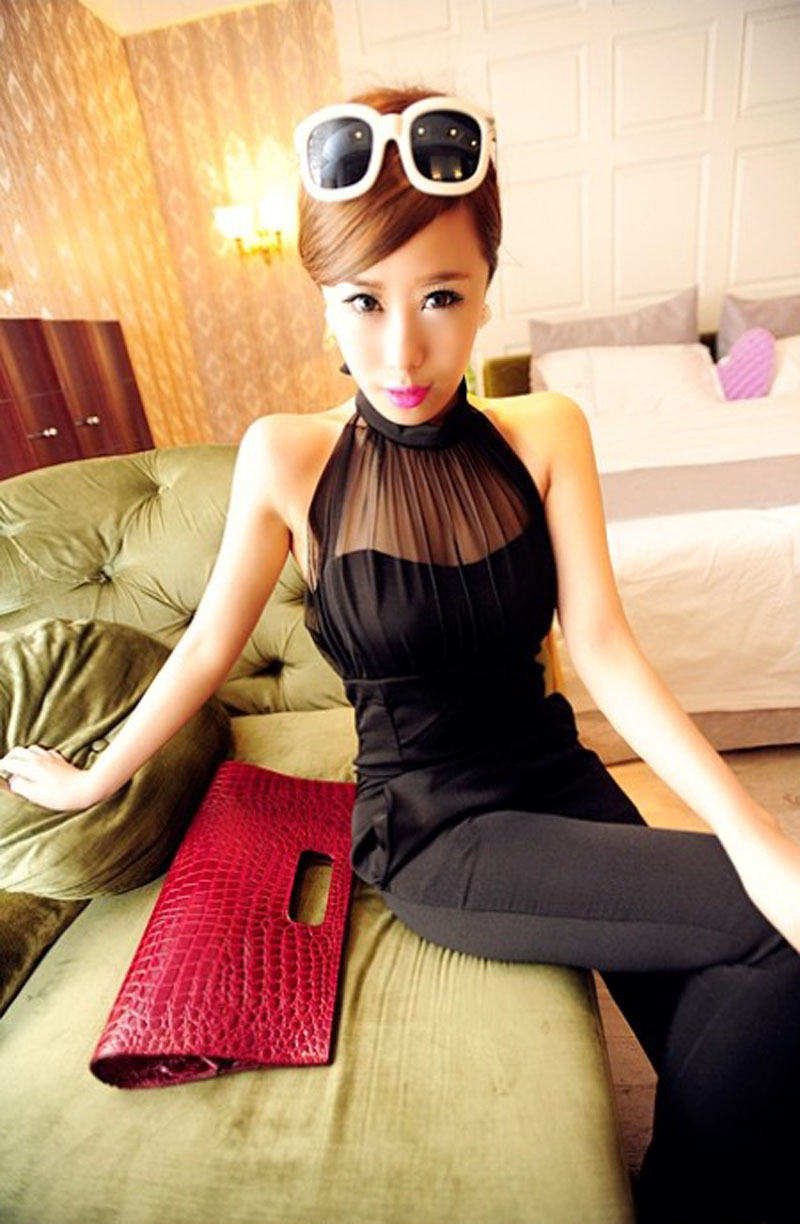 Free Shipping!2012 Summer Sexy Halter-neck jumpsuit For Ladies,Women's slim  Rompers wholesale