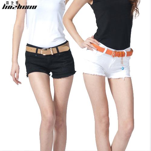 Free shipping! 2012 summer women's 502 fashion all-match black denim shorts white shorts