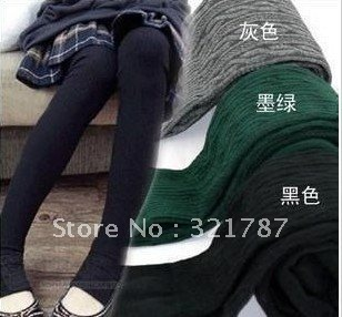 Free Shipping 2012 Twisted Style Pantyhose Cotton Leggings for Women Thicker Cotton Knitted flexible pants and stocking
