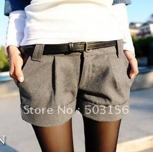 free shipping 2012 woolen shorts women's new arrival all-match boot cut jeans shorts ladies' pants