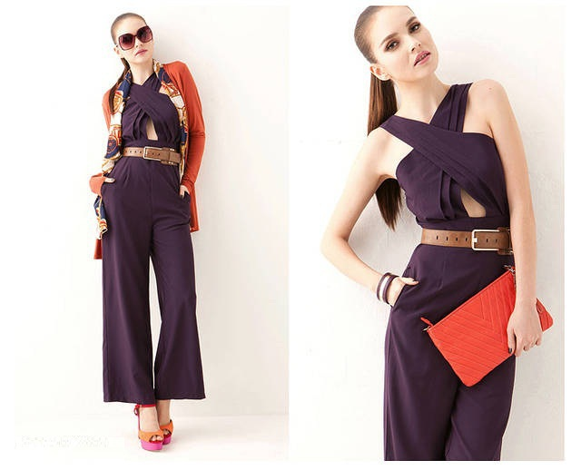 Free shipping!2013 brand new European Vintage Fashion boot cut rompers womens Jumpsuit 3colors Black/Wine red/Purple