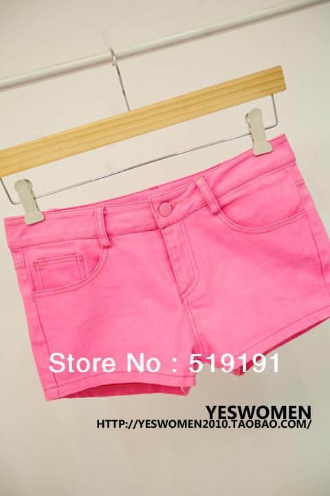 Free Shipping 2013  Candy Color Shorts/Beach Shorts/Hot Pant/ Denim Shorts/S M L