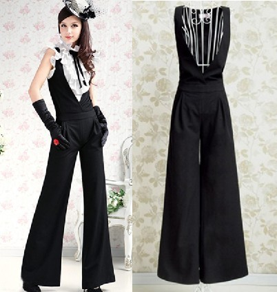 Free Shipping 2013 Fashion  Brand Women  elegant brief Rompers  , Ladies wide leg pants, Jumpsuit for women