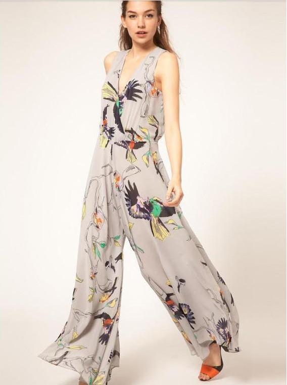 free shipping 2013 fashion printing lady Jumpsuits  notu1159
