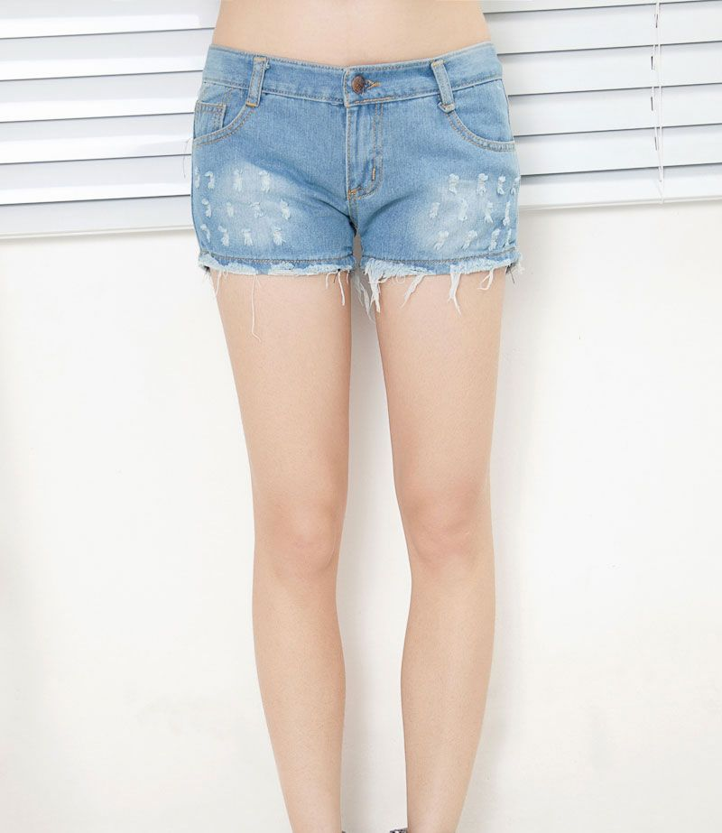 Free shipping 2013 Fashion Washed Frazzle Woman's Low waist Cotton Denim shorts S/M/L/XL/XXL/XXXL