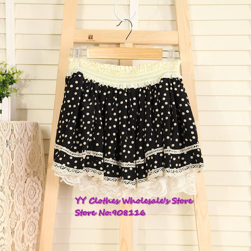 Free shipping,2013 hot selling women short skirts lace point short skirt wild pleated skirts,ladie dresses,1pcs/lot,X2980