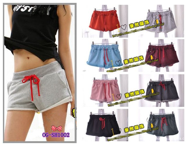 free shipping, 2013 Korean style summer cotton shorts, popular women casual sports shorts, wholesale 5pcs/lot, 8colors, F size