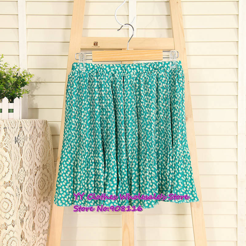 Free shipping,2013 Korean Women wholesale summer new floral chiffon skirts,ladie half dresses,1pcs/lot,X2987