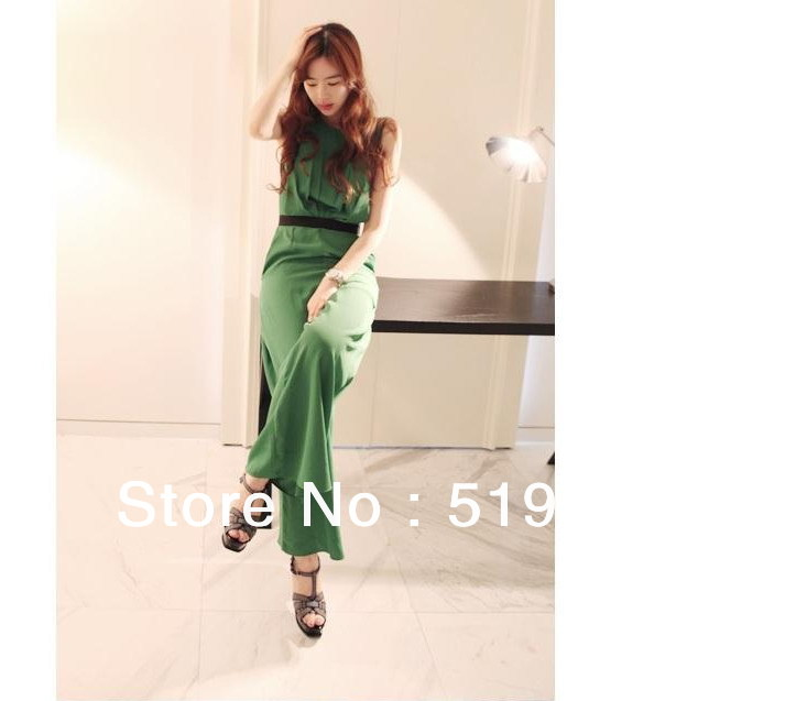 Free shipping 2013  new arrival fashion color block plus size chiffon  jumpsuits overall ,leisure suit,wide leg pants trousers