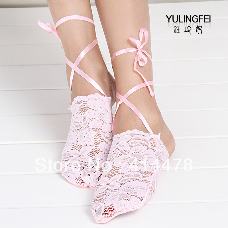 Free Shipping!2013 New Arrival Rose full lace decoration invisible sock slippers elegant all-match sock half socks female