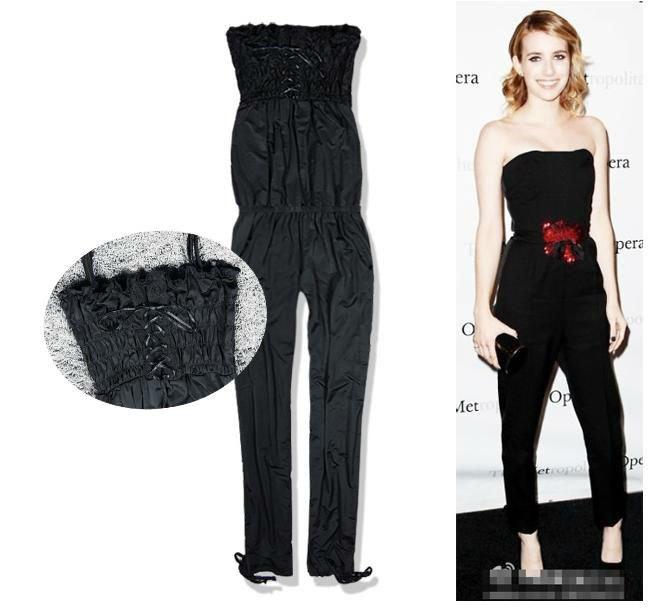 Free Shipping 2013 New Arrival XiaoSa Women's Silk Fabrics Fashion Sleeveless Romper Strap Short Jumpsuit