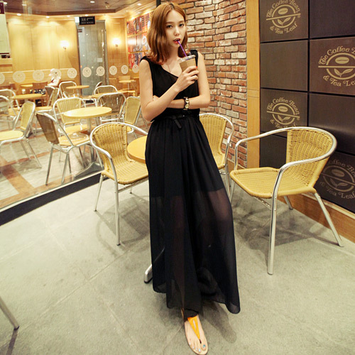 Free shipping: 2013 new arrivals V-neck, sexy, sleeveless, Loose Chiffon Jumpsuits C2556
