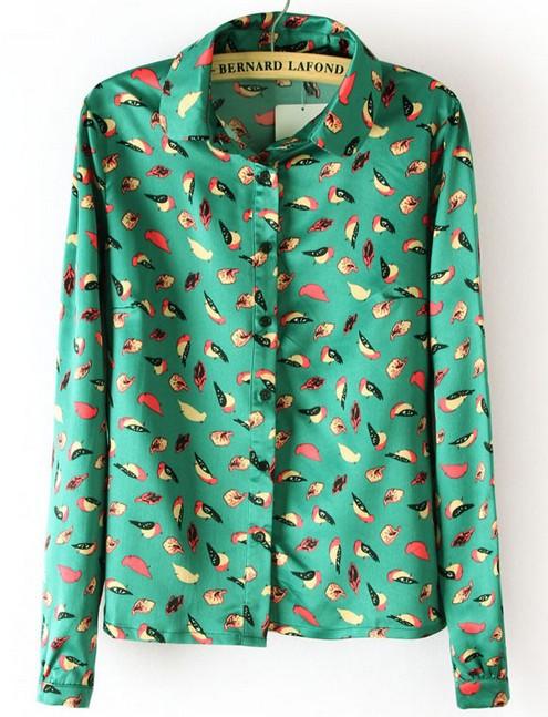 Блузки С Птичками Купить