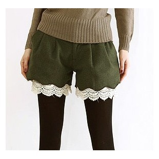 Free shipping 2013 new fashion ladies short pants casual slim fit style womens shorts Green Khaki