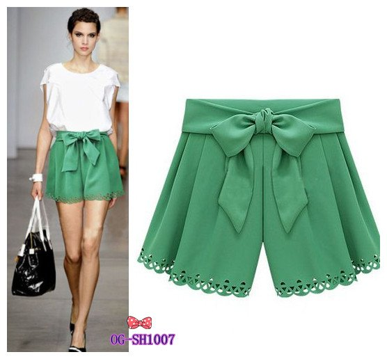 free shipping, 2013 new fashion women's chiffon short pantskirt , popular casual shorts, 3 color,  M, L size