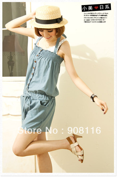 Free shipping,2013 New Hot sale,Korean/Japan women's fashion solid jeans jumpsuits/Rompers ladie's denim overall/Jumpsuit/X3018