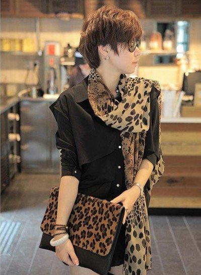 Free Shipping !2013 NEW Style, Classic Leopard Scarf Long Chiffon Scarf  Women's Korean Version Silk Scarf,S-028