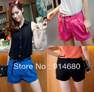 Free shipping ,2013 New Style Hot Sale  Contracted joker Leisure Short Pants(Send Belt)  Three color Three Size