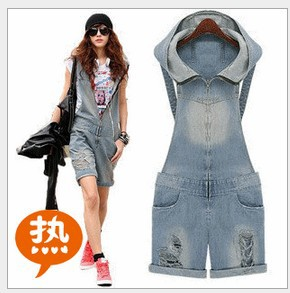 Free Shipping 2013 new style jumpsuit women,jumpsuit women,sexy shorts,one piece elastic shorts with cap