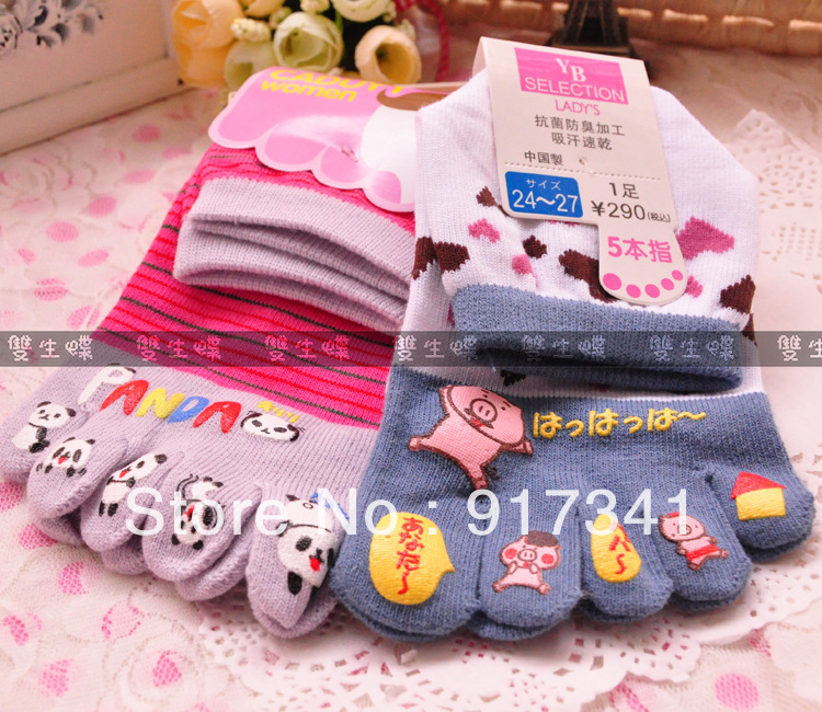 Free shipping 2013 new top Sock Slippers for women Ladies Finger  socks many style beautiful 10pcs brand hot sale high quality