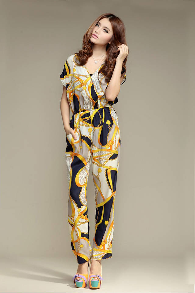 Free shipping,2013 new Western style Women tempera thin Rompers/Jumpsuit,long pants with,belt,X2708