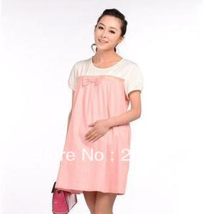 Free shipping ! 2013 new women dress summer fashion pregnant women skirt Korean pregnant women dot skirt