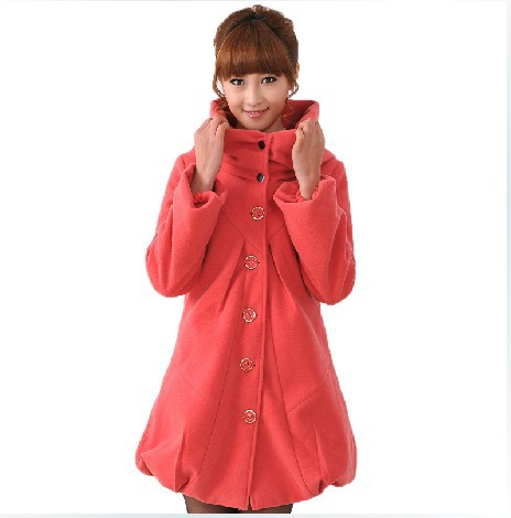 Free shipping 2013 plus size jacket  spring autumn winter wool coat maternity jacket outwear fashion trench