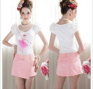 FREE SHIPPING/2013 Sexy Fashion Brand Shorts Women,Cute  High quality Promotion Skirts Shorts,hot pants 6157 S-XL PINK/BLUE