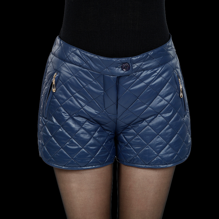Free Shipping! 2013 Spring Atumn and Winter Fashion Women Thick Padded Cotton Embossed Diamond-Type Shorts Bootcuts P0698#