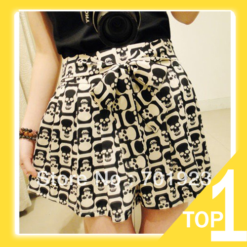 free shipping 2013 spring NEW Women Shorts,Fashion Sexy Skull leopard print Chiffon Skirt,Lady Summer Cool Short Pants Y7079