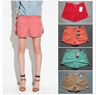 Free shipping! 2013  sumemr fashion candy color cotton shorts ,summer women's shorts,