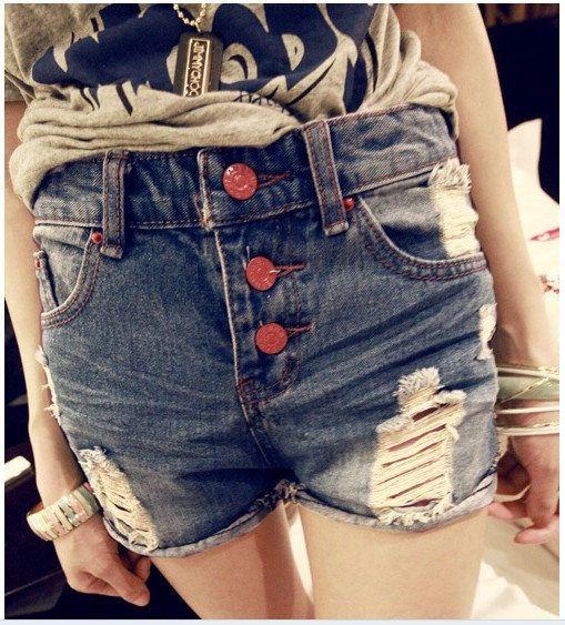 Free Shipping 2013 Summer Fashion Shorts 88-98 Women Jeans Shorts Women Denim Lace Shorts Gradient Skirts Sports Sexy Plaid Dot