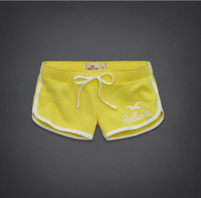 Free shipping,2013new arrival,fashion&casual,100% cotton,size S,M,L,Women's shorts,more color-W'S003,Yellow