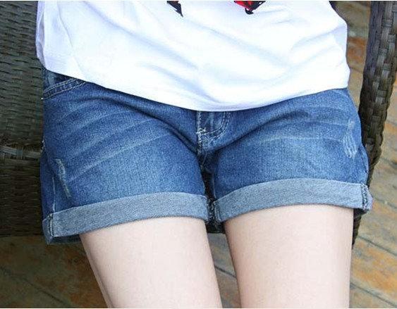 Free Shipping 2014 New Fashion Denim Shorts Women Pockets Winter Jeans Short Shorts Casual Wear High-Waist Jeans