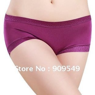 Free shipping 20pcs/lot wholesale Modal solid color Seamless ladies underwear, breathable antibacterial health Ms. underwear